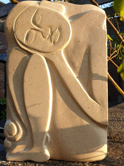 Relief stone carving