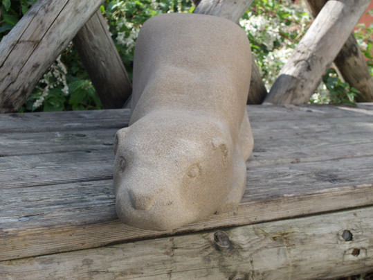 otter stone carving