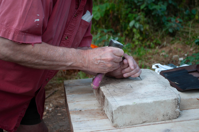 Stone carving course at Wightwick Manor