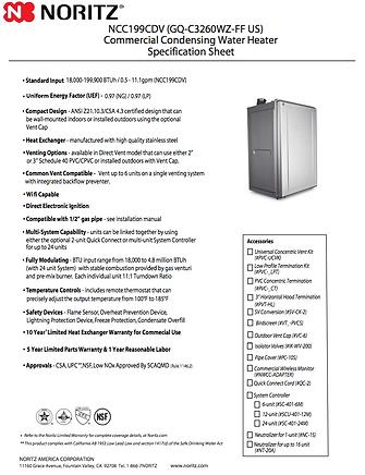 NCC199 Spec. sheet