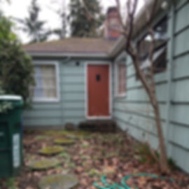 undistinguished entry, entry before remodel,Laura Kraft Architect Seattle residential architecture, Seattle woman architect, Seattle Residential Remodel