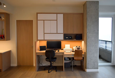 home office, laura kraft architect, child's desk, office cabinetry, condo