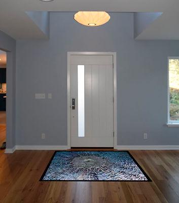 Laura Kraft Architect Seattle residential architecture, Seattle woman architect, Seattle Residential Remodel, custom entry rug, light monitor
