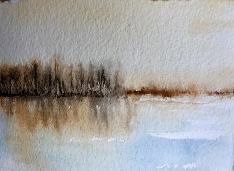 "''Solitude I"" 3 1/2"" x 5"" watercolour #w"