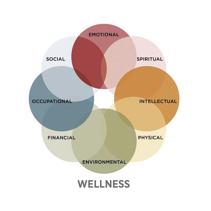 SAMHSA 8 Dimensions of Wellness Wheel