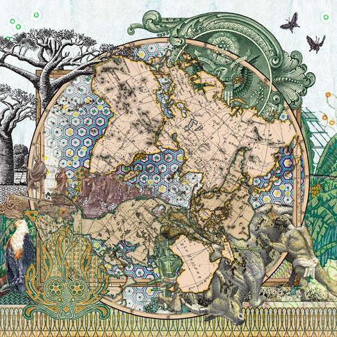 Malala Andrialavidrazana, Figures 1816, Der Südliche Gestirnte Himmel vs Planiglob der Antipoden, 2015