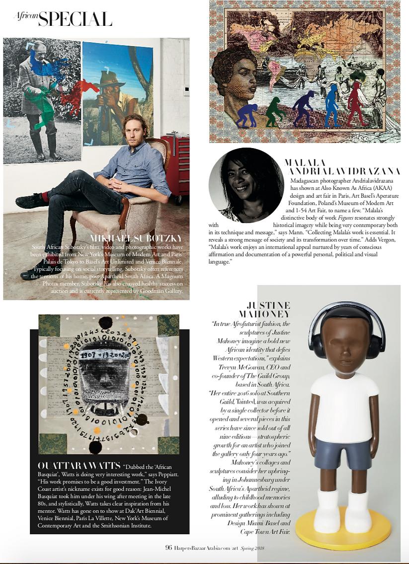 Harpers Bazaar Malala, Andile, Emo