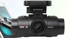 USED - Qvia QR790 2ch Dash Camera with GPS & 8GB MicroSD Card