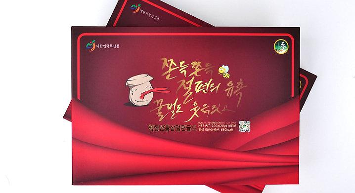 Korean Red Ginseng Slice Gold. Net Wt. 200g(20gx10EA). Red Ginseng 50% (650kcal)
