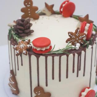 Christmas sponge cake
