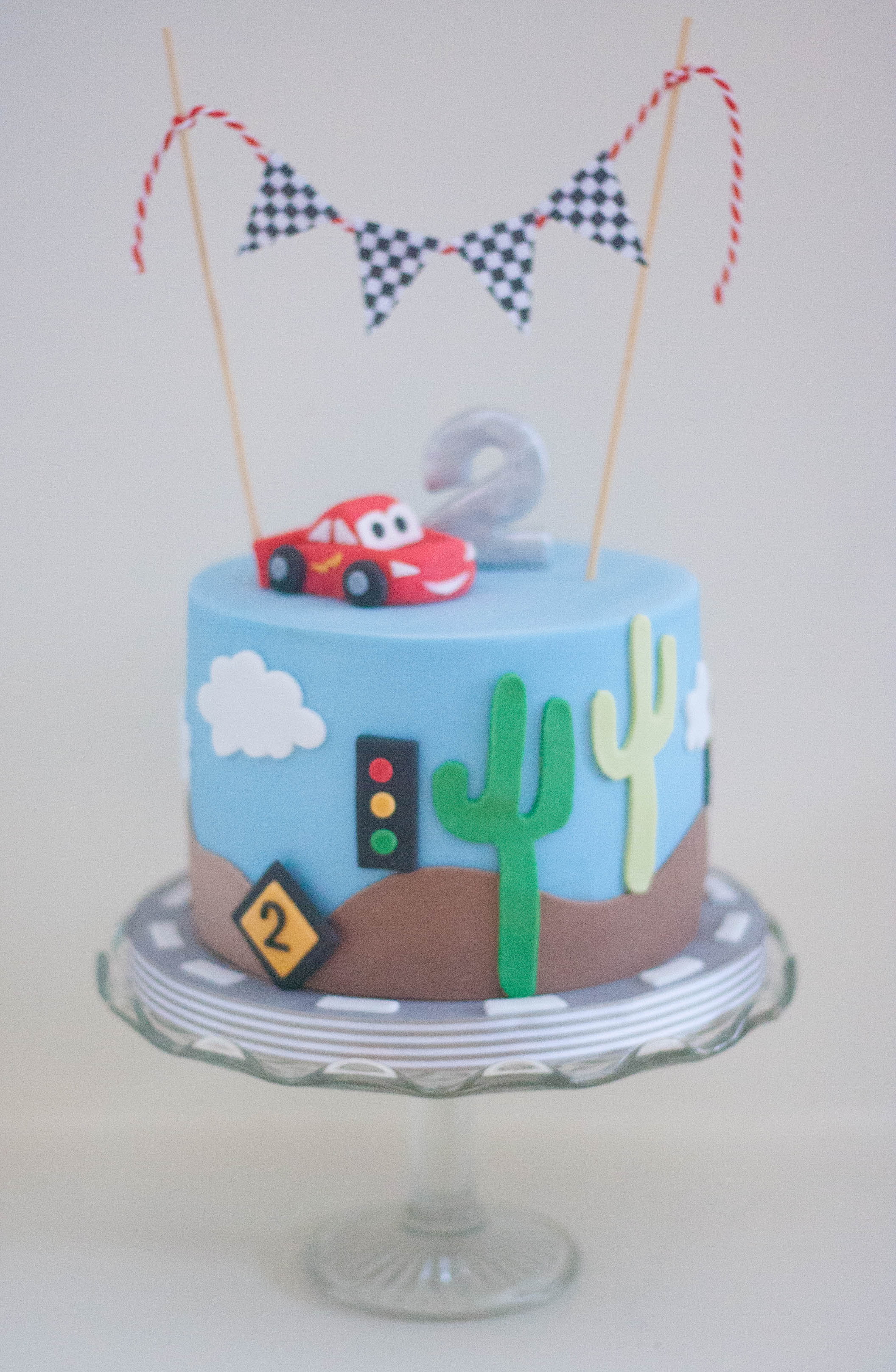 Disney Cars cake vegan