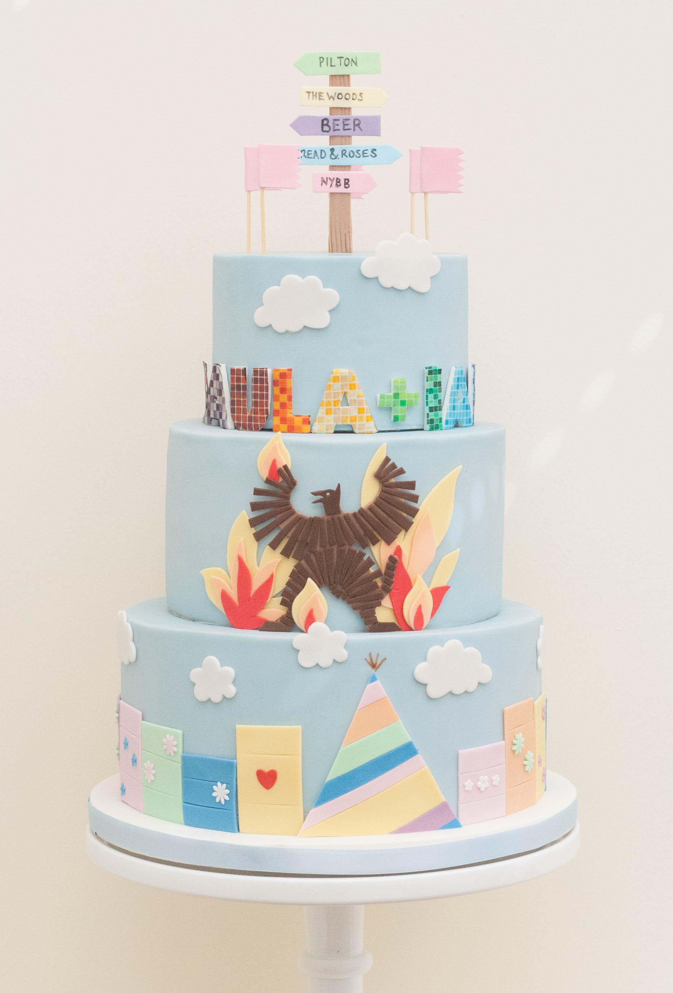 glastonbury wedding cake vegan