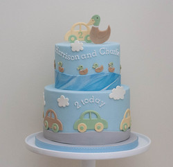 cars and ducks cake vegan