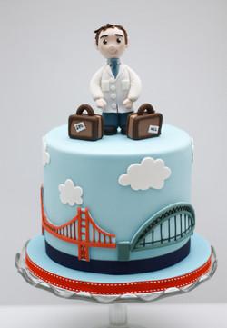 scientist Tyne Bridge Golden Gate cake