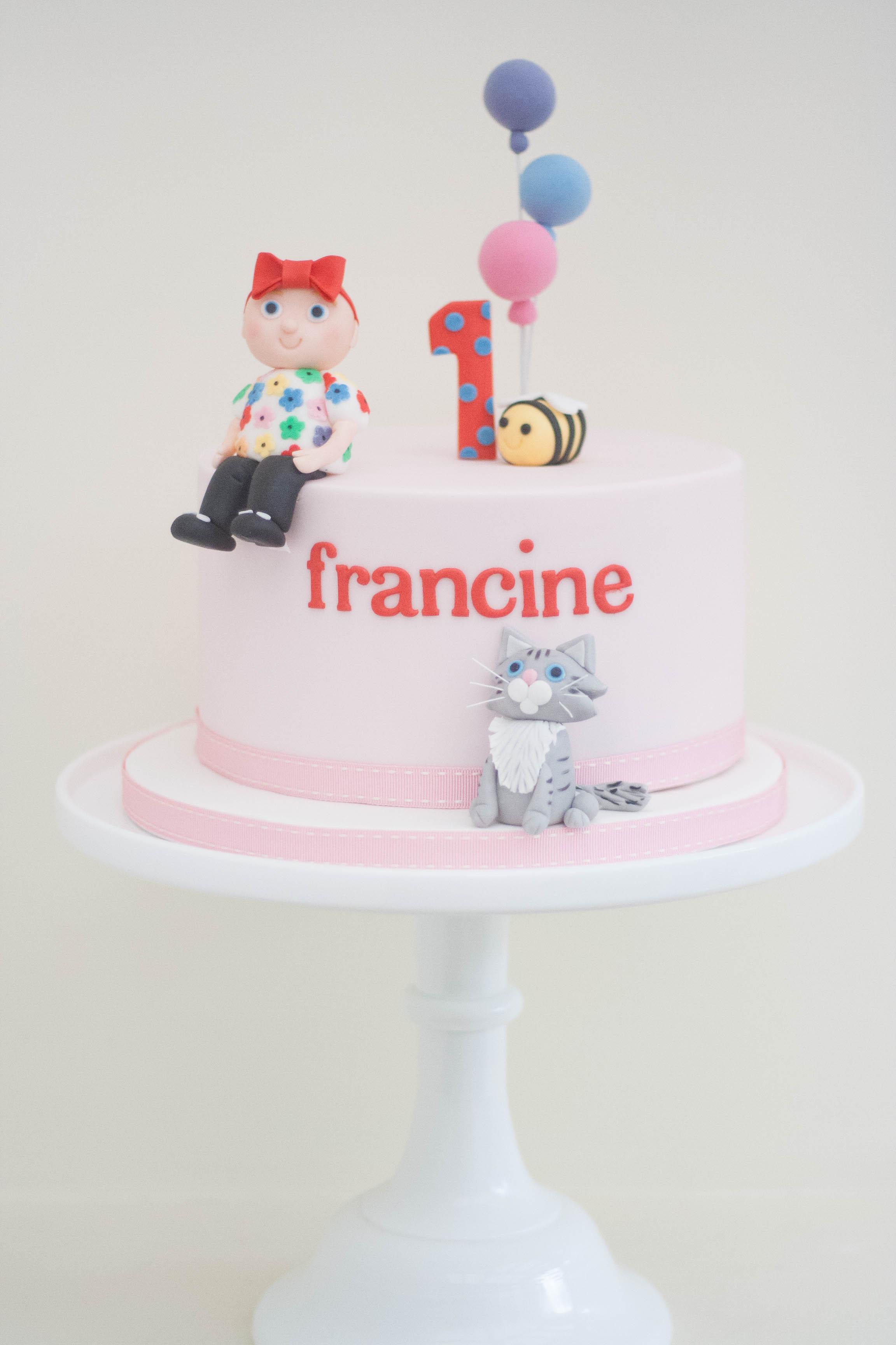baby girl vegan birthday cake