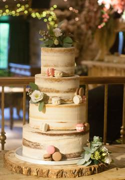 semi naked gluten free vegan wedding cak