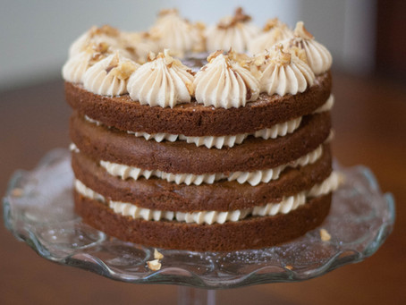 Vegan date and caramel cake