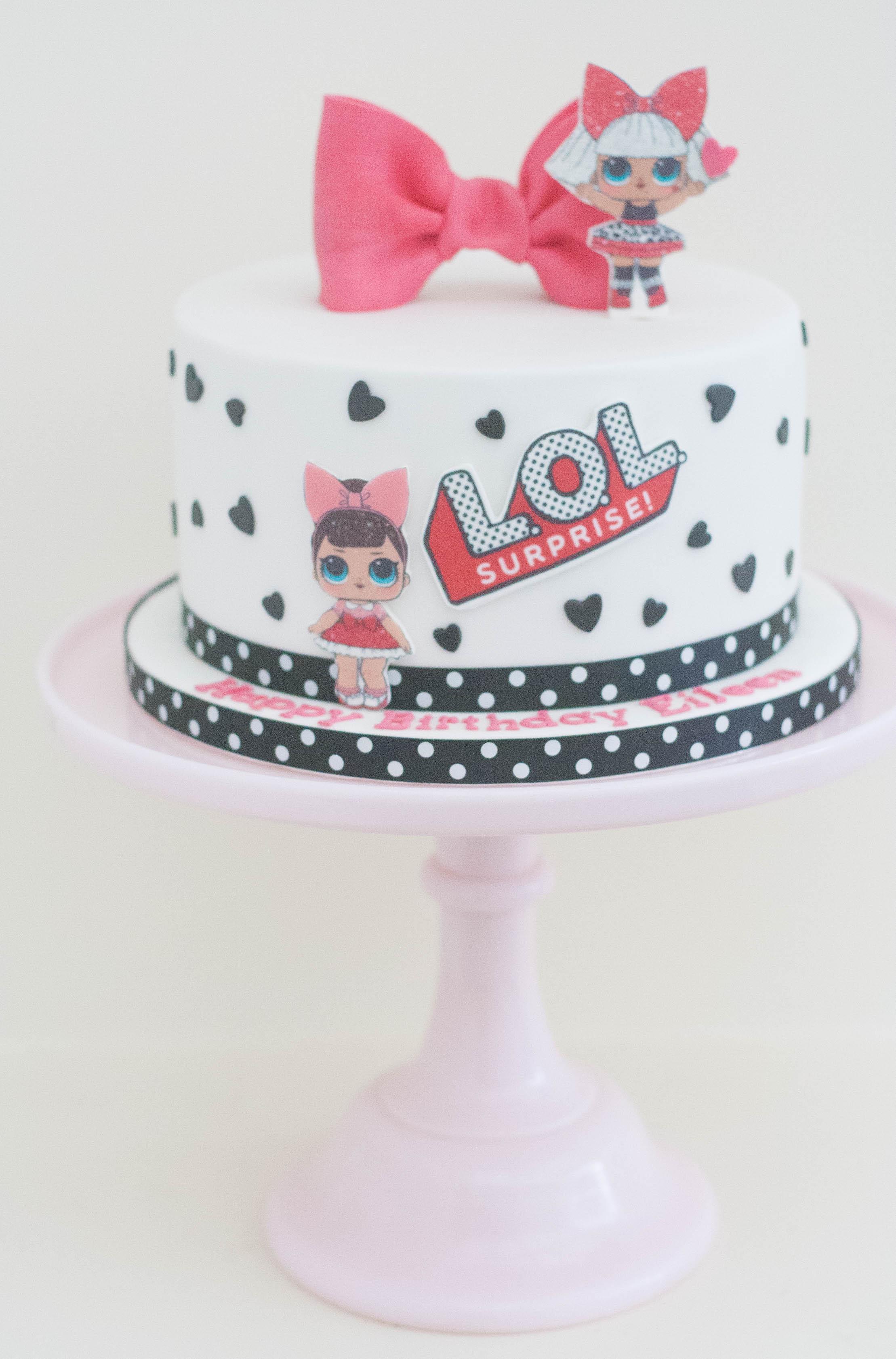 LOL doll vegan cake