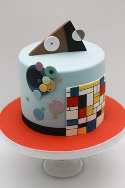 modern art cake Kandinsky Mondrian