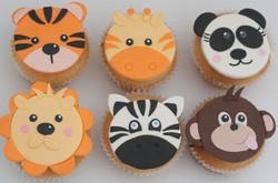jungle animal cupcakes 6 vegan