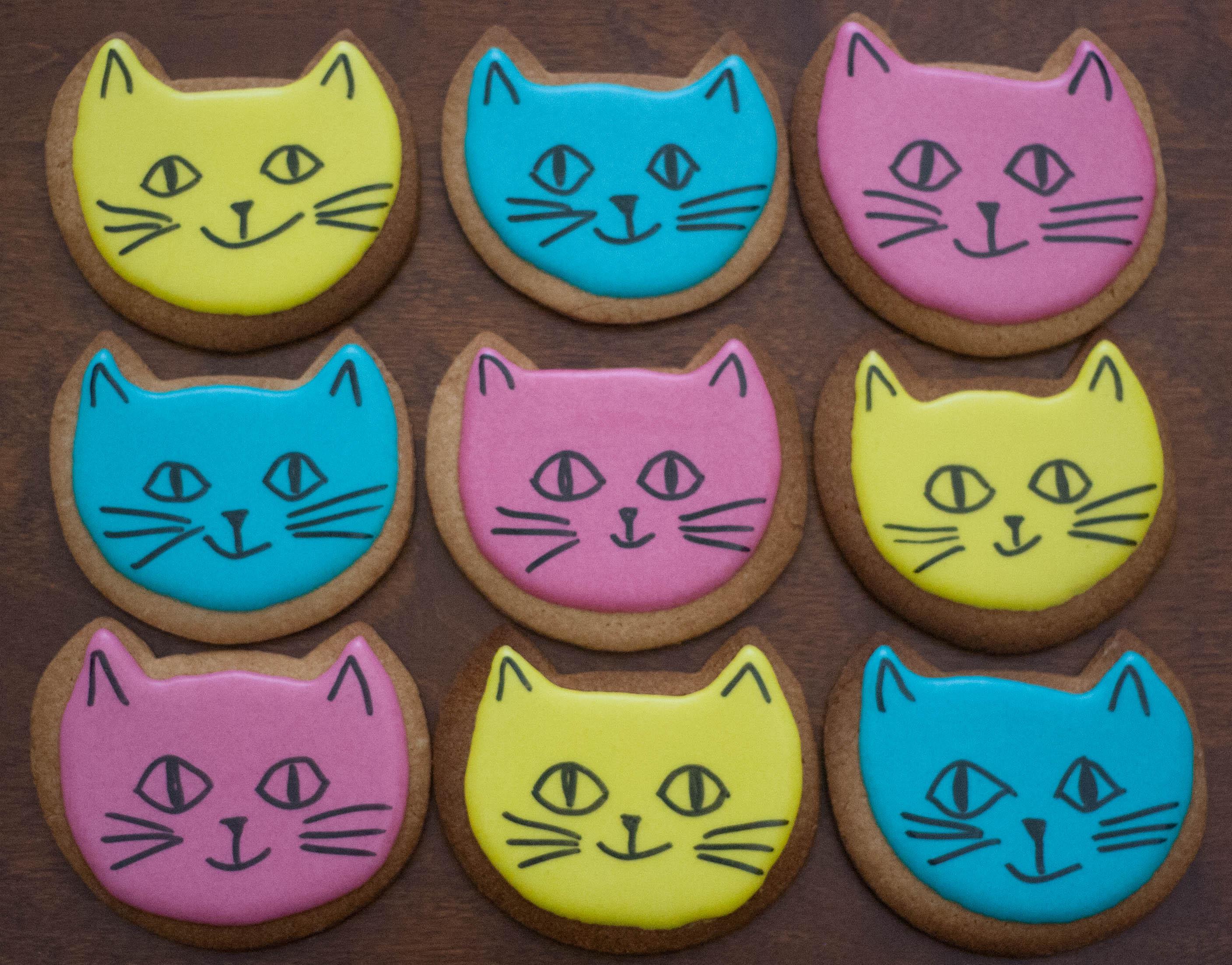 cat face cookies vegan