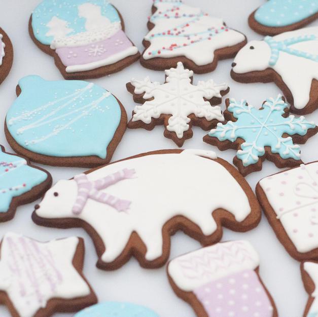 Winter Wonderland gingerbread cookies