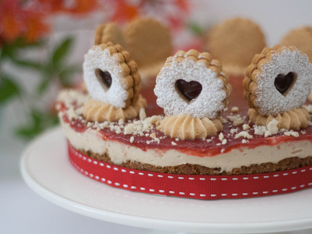 Vegan peanut butter & jam cheesecake
