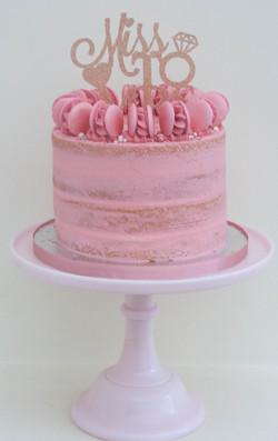 semi naked bridal shower cake vegan