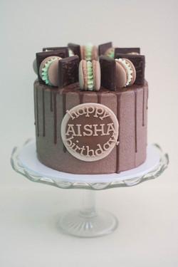 mint choc vegan cake_