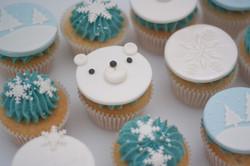 Christmas winter cupcakes