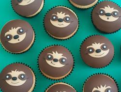 sloth cupcakes vegan