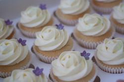 lemon rose glitter cupcakes