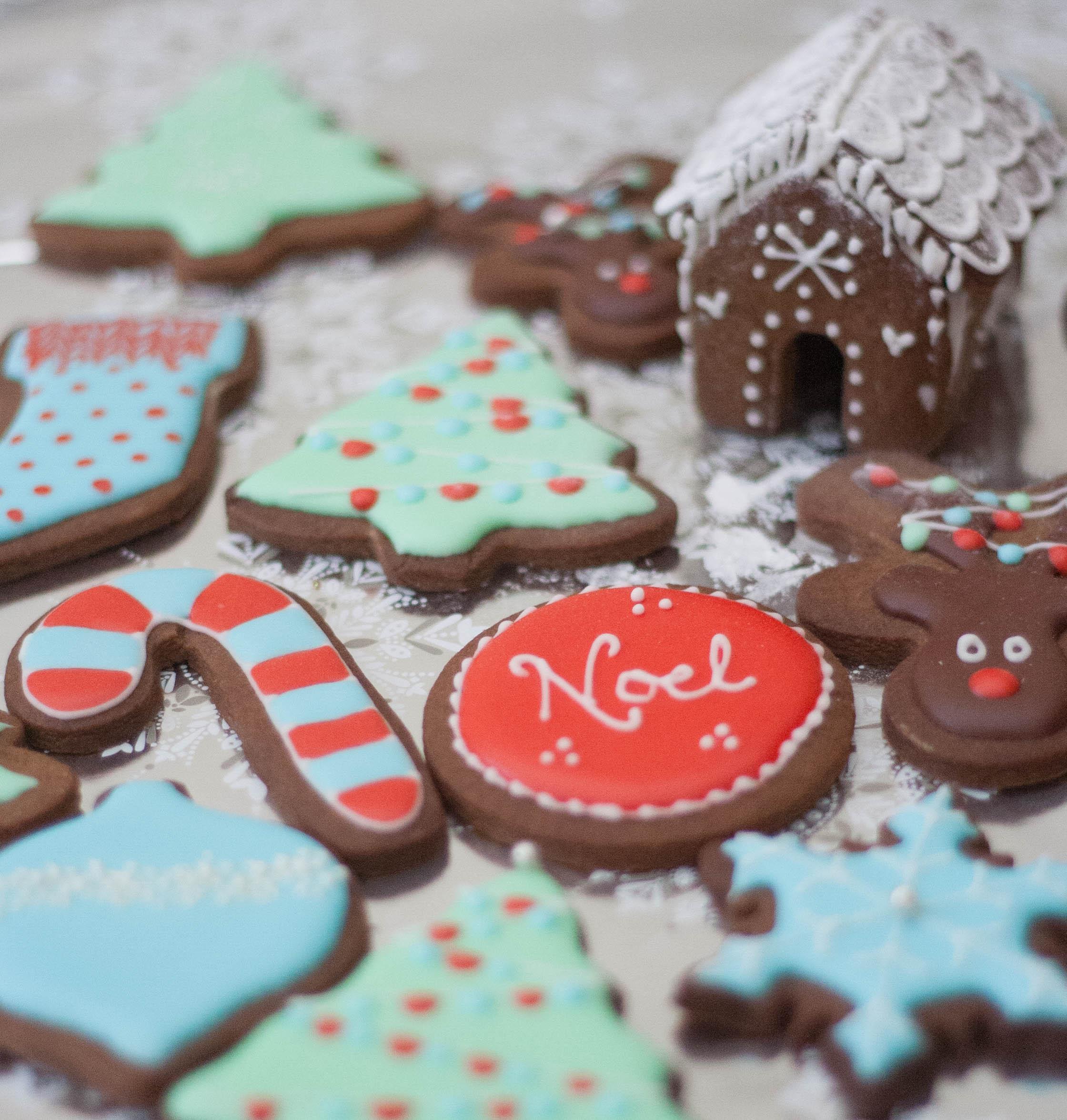 Christmas vegan gingerbread
