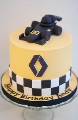 formula 1 F1 vegan cake Renault