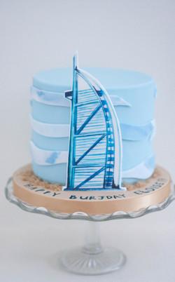 Burj vegan cake