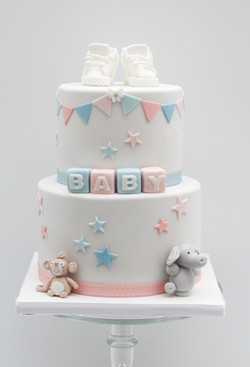 baby shower two tier cake