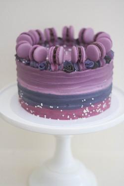 purple night sky cake vegan_