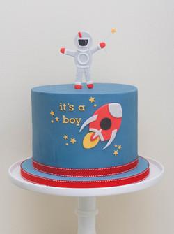 spaceman rocket cake vegan