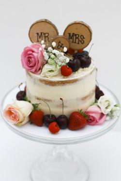 semi naked 6 inch wedding cake
