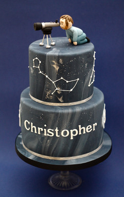 stargazer two tier cake