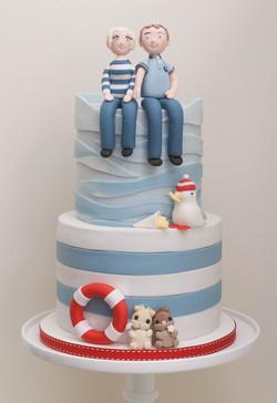 seaside wedding cake vegan guinea pigs