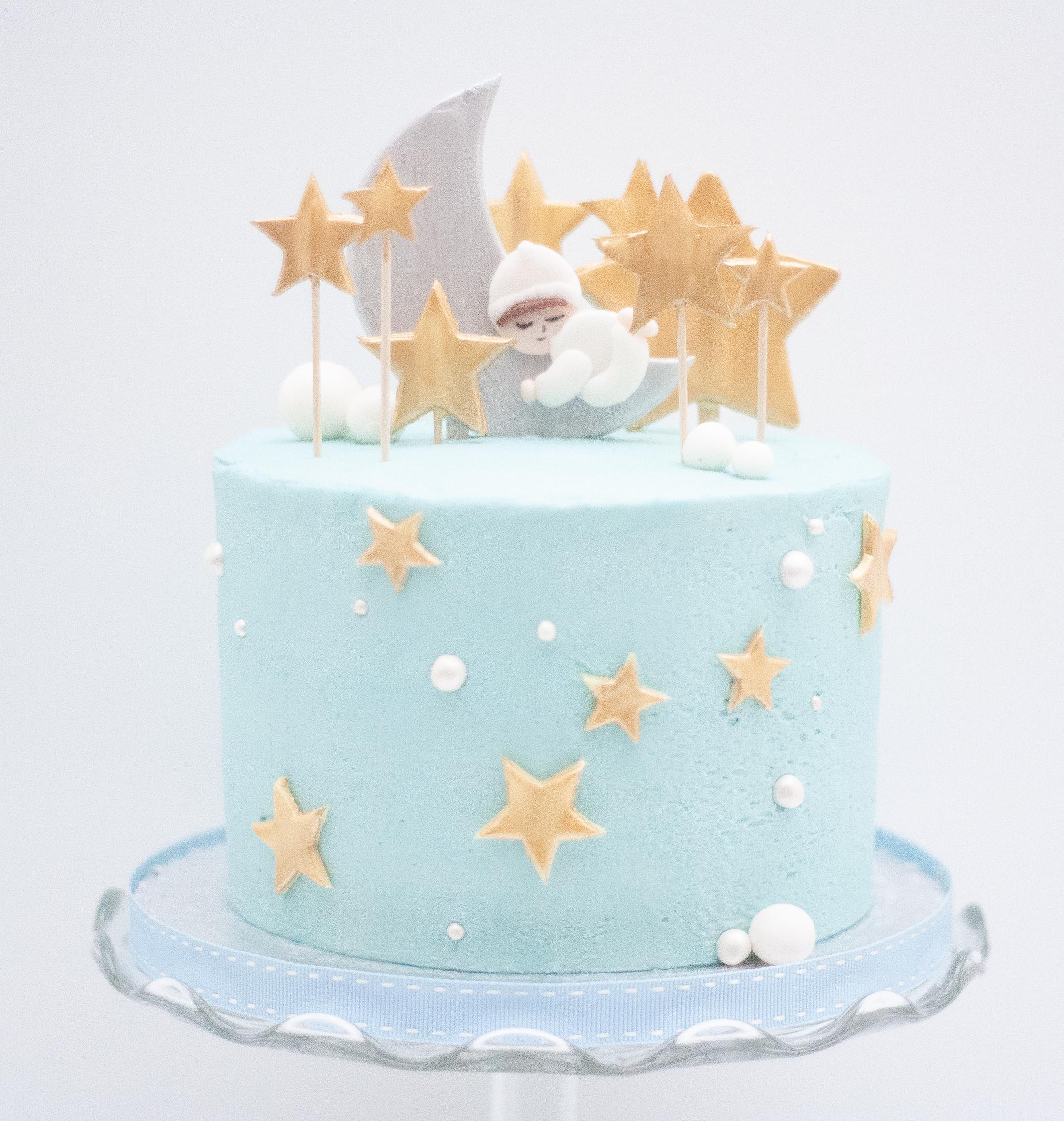 baby boy moon cake