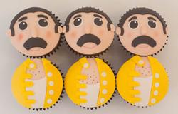 Freddie Mercury vegan cupcakes