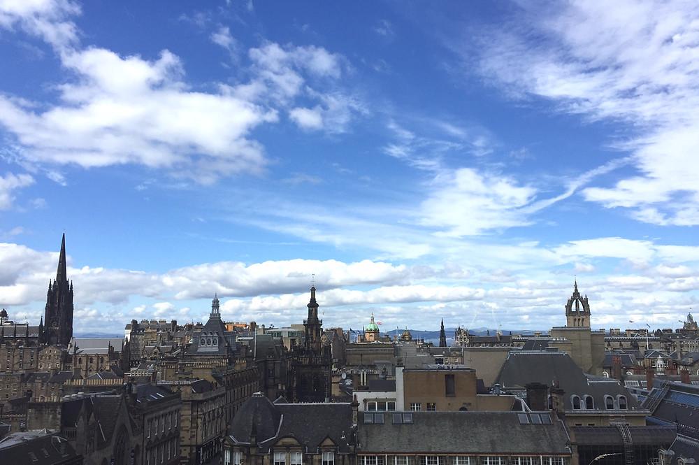 The National Museum of Scotland roof garden has wonderful panoramic views