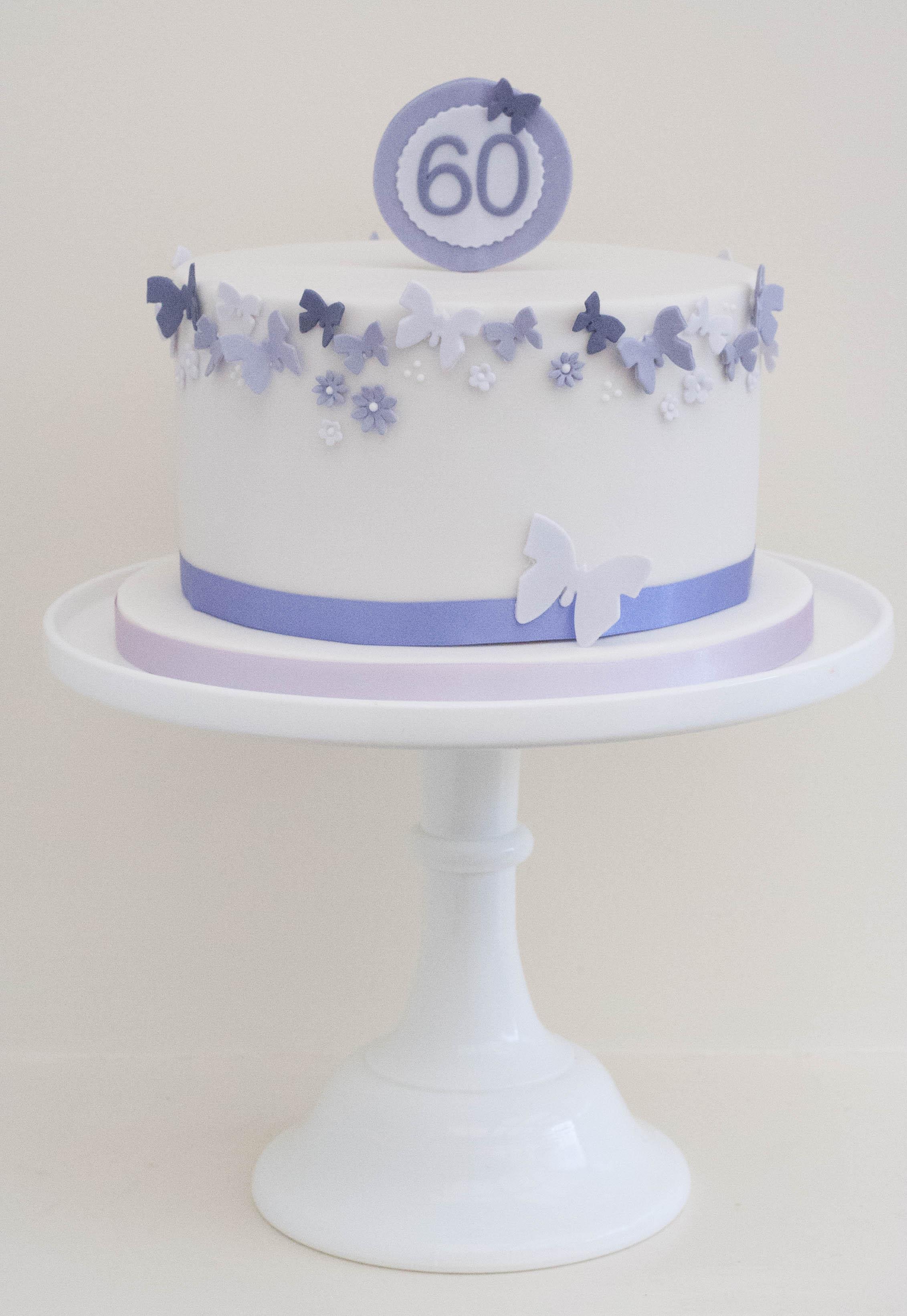 purple butterfly cake vegan