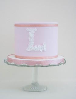 pink L cake vegan
