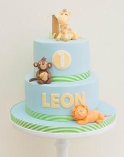 vegan gf soy free 1st birthday safari cake-2
