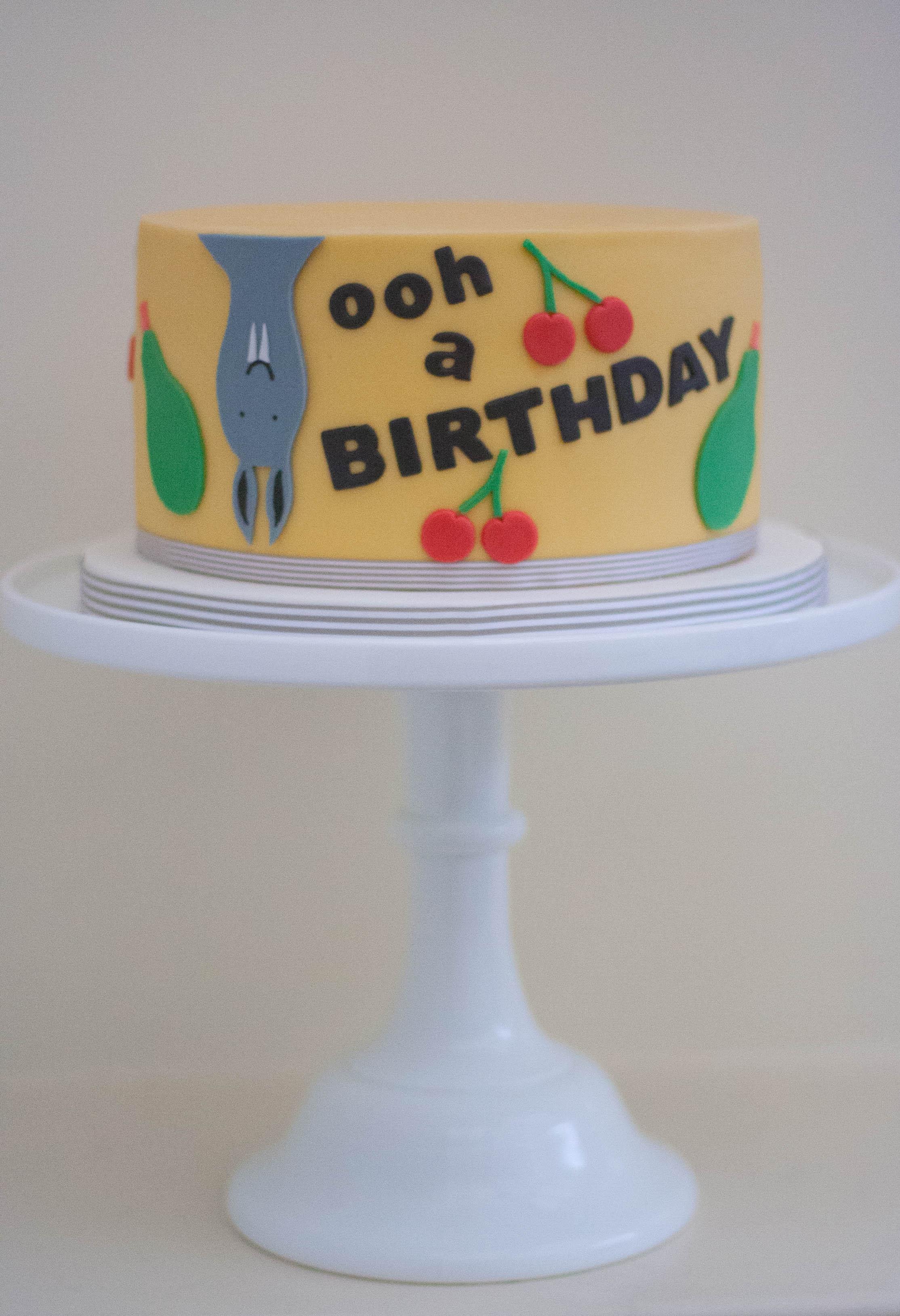 bat vegan cake