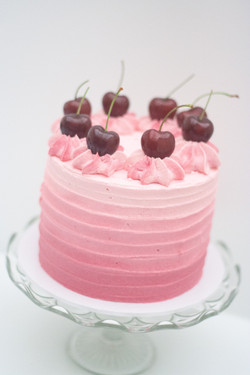 cherry and almond ombre cake
