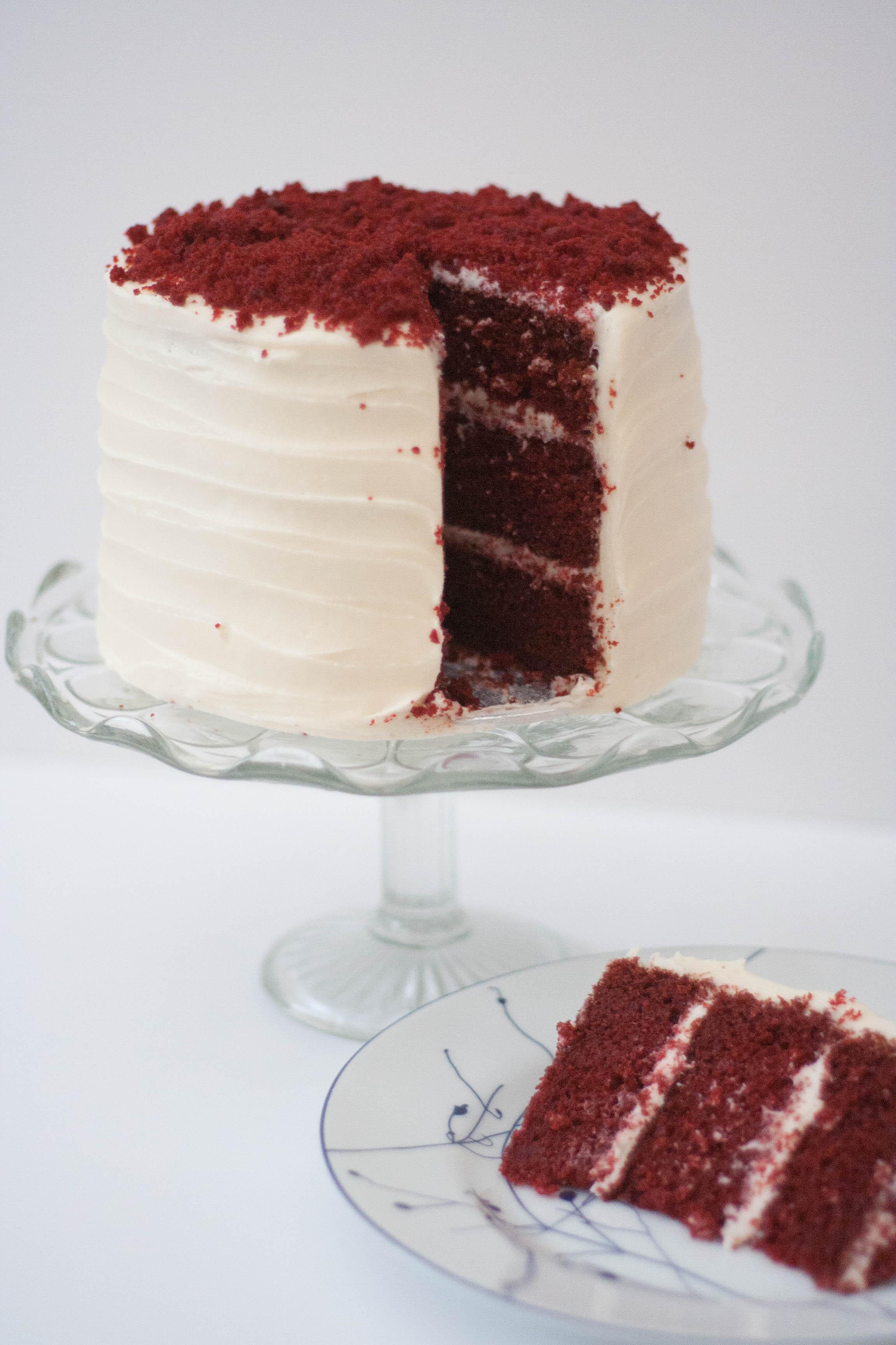 red velvet cream cheese vegan